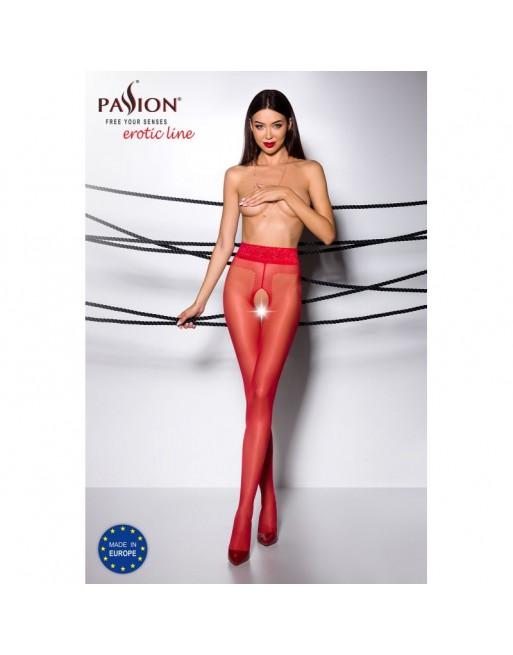 TI001R Collants ouverts 20 DEN - Rouge