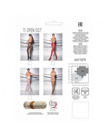 TI007R Collants ouverts 20 DEN - Rouge