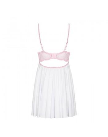 Girlly Babydoll - Rose et blanc