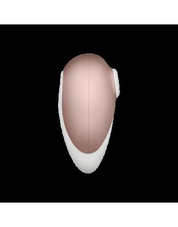 Stimulateur Satisfyer Deluxe - Blanc et Or rose