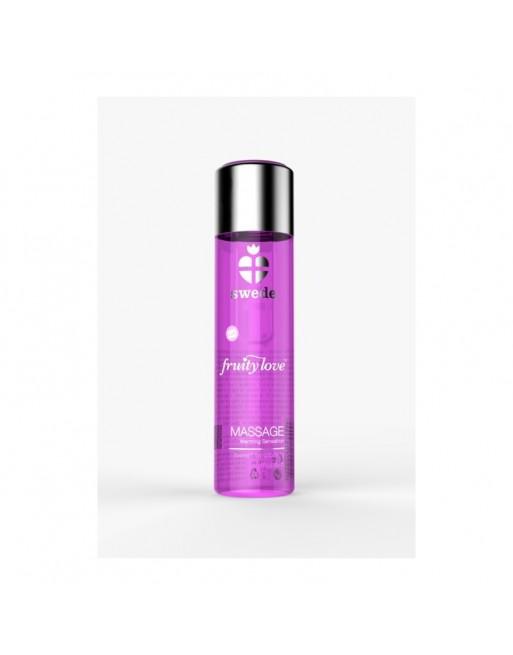Huile de massage - Framboise Rhubarbe - 120 ml