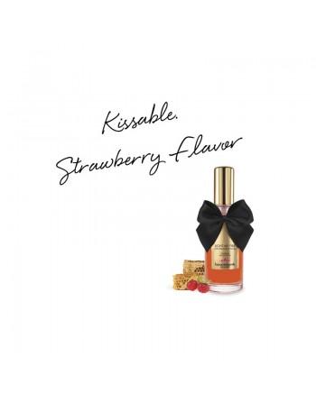 Huile de massage embrassable chauffante - fraise sauvage
