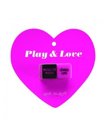 Dés Play  love - Rose  Noir