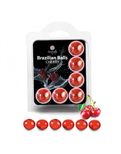 6 Brazilian Balls Cerise 3386-6