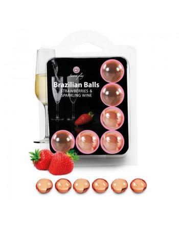 6 Brazilian Balls Fraise  Champagne 3386-2