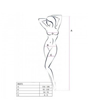 BS072B Bodystocking - Noir