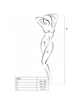 BS007 Bodystocking - Noir
