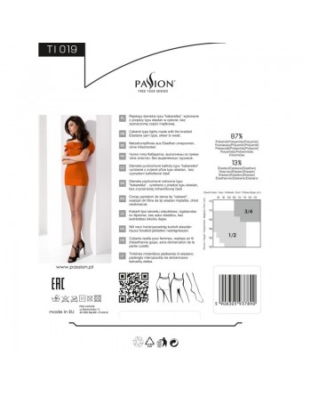 TI019 Collants Résille - Blanc