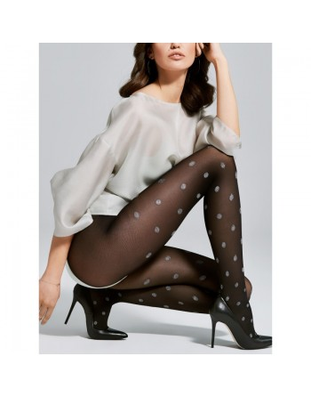 Smile Collants 40 DEN - Noir et Gris