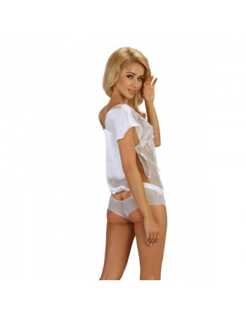 Federica Top et Shorty - Blanc