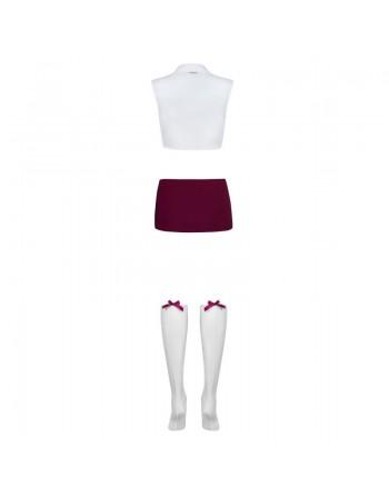 Student Costume - Blanc et Violet