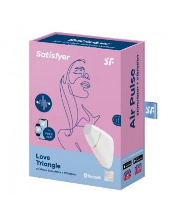 Stimulateur connecté Satisfyer Love Triangle - Blanc et Or