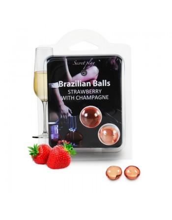 Duo Brazilian Balls Fraise champagne 3385-2