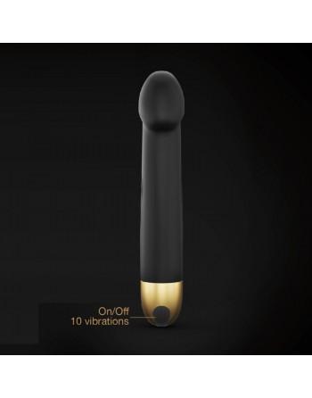 Vibromasseur Real Vibration M 22 cm 2.0 - Noir et Or