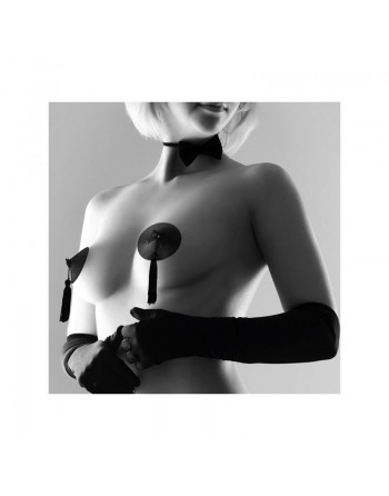 Cache-tétons Burlesque - Noir