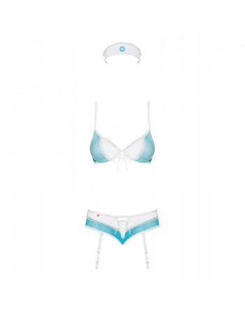834-CST-6 Costume Infirmière - Bleu